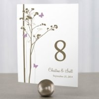 Romantic Butterfly Themed Table Numbers (9 Colors)