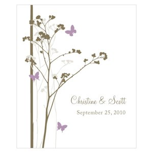 Romantic Butterfly Rectangular Favor Stickers image