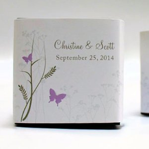 Romantic Butterfly Favor Box Wrap (Set of 20) image