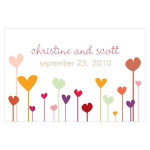 Personalized Hearts Large Rectangular Tag (Set of 12) image