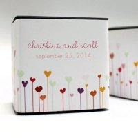 Personalized Hearts Favor Box Wraps (Set of 20)