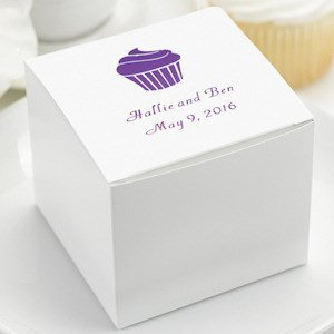 Personalized Cake Favor Boxes (Set of 50) image