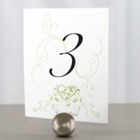 Heart Filigree Table Number Cards (11 Colors)