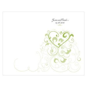 Customized Heart Filigree Program Paper (11 Colors) image