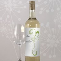 Heart Filigree Wine Bottle Labels (8 Pack - 11 Colors)