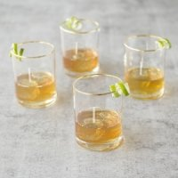 Personalized Gold Rim Whiskey Glasses Set of 4