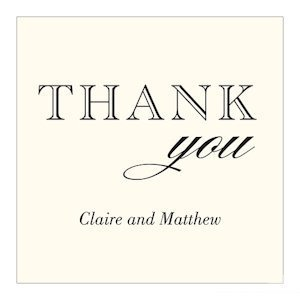 Burlap Chic Personalized Square Thank You Tag image