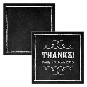 Chalkboard Print Design Square Favor Tag (Set of 2) image