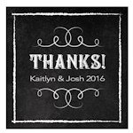 Chalkboard Print Design Square Favor Tag (Set of 2)