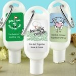 Golf Themed Sunscreen Favors with Carabiner