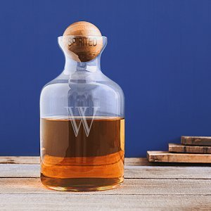 Personalized 56 oz. Glass Decanter with Wood Stopper image