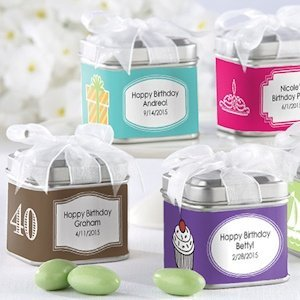 Square Birthday Party Favor Tins (Set of 12) image
