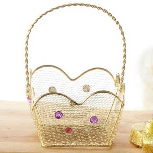 Indian Jewel Gold Wire Favor Basket (Set of 6) image