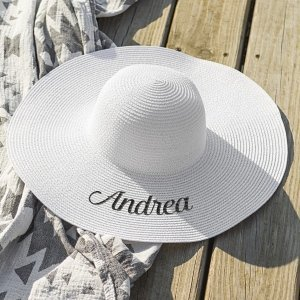 Personalized White Sun Hat image