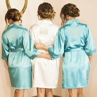 Personalized Solid Satin Robe (3 Colors)