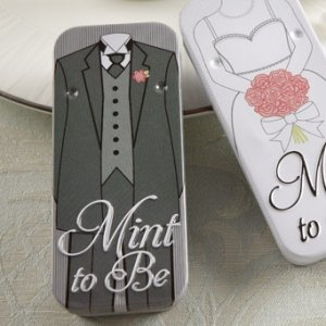 'Mint to Be' Groom Slide Mint Tins with Heart Mints image