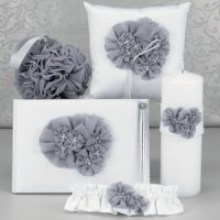 Glamorous Grey Wedding Accessory Collection