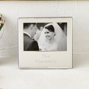 Personalized Silver Picture Frame image