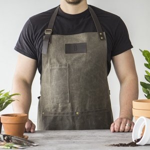 Personalized Men's Waxed Canvas Apron image