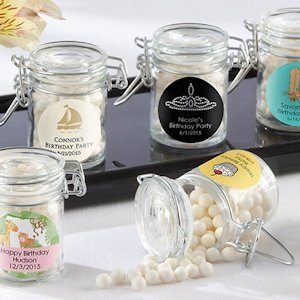 Glass Birthday Party Favor Jars (Set of 12) image