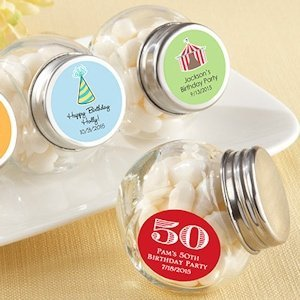 Birthday Candy Favor Jars (Set of 12) image