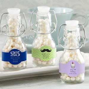 Swing-Top Glass Birthday Favor Bottles (Set of 12) image
