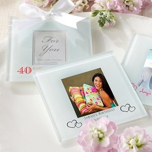 Custom Birthday Photo Coaster Favors (Set of 12) image