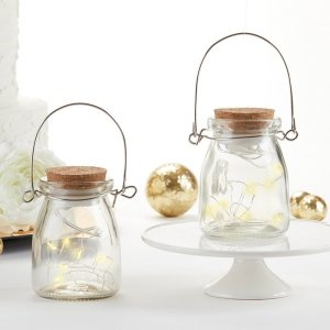 Hanging Clear Jar With Fairy Lights (Set of 4) image