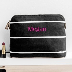 Personalized Striped Cosmetic Bag (2 Colors) image