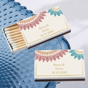 Personalized Indian Jewel Matchboxes (Set of 50) image