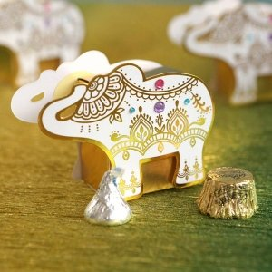 Lucky Golden Elephant Favor Box (Set of 12) image