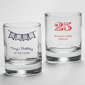 Personalized Birthday Shot Glass Party Favors image