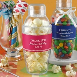 Personalized Birthday Party Cocktail Shaker Favors image
