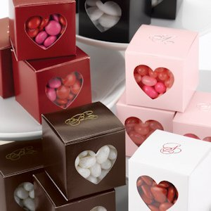 Heart Window Personalized Wedding Favor Boxes (Set of 25) image