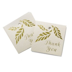 Organic Leaves Thank You Favor Tags - Set of 25 image