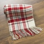 Personalized Red or Grey Plaid Throw