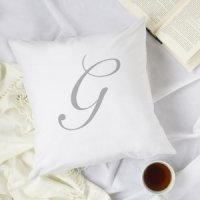 Personalized Script Initial Pillow