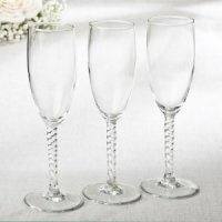 Perfectly Plain Twisted Stem Elegant Champagne Flute