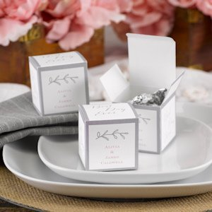 Rustic Vines Personalized Favor Boxes (Set of 50) image