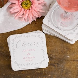 Rustic Vines Personalized Coasters (Set of 50) image