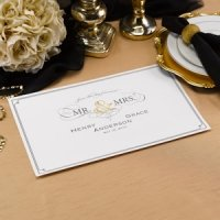 Golden Elegance Personalized Placemats (Set of 50)