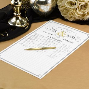 Golden Elegance Personalized Signature Poster image