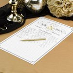 Golden Elegance Personalized Signature Poster
