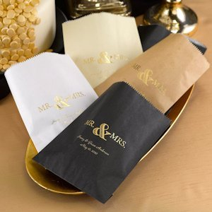Golden Elegance Personalized Treat Bags (Set of 50) image