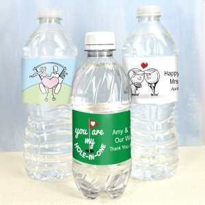 Golf Themed Water Bottle Labels (Set of 5) image