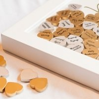 Wooden Guest Book Signing Hearts