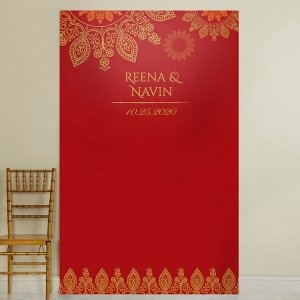 Personalized Indian Jewel Photo Backdrop image