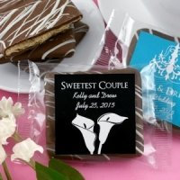 Personalized Wedding Silhouette Chocolate Graham Favors