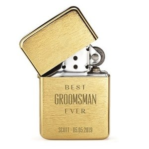 Best Groomsman Ever Etched Classic Lighter - 3 Colors image