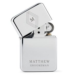 Triple Diamond Initial Etching Classic Lighter Gift image